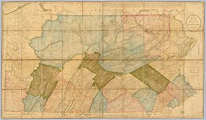 Luzerne County, Pennsylvania - A map of Pennsylvania in 1792. At the time, Bradford, Lackawanna, Susquehanna, and Wyoming were still part of Luzerne County.