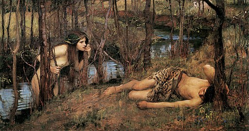 A Naiad or Hylas with a Nymph by John William Waterhouse (1893)