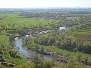 Borsod-Abaúj-Zemplén County - Image: A Sajó a sajónémeti Várhegyről