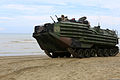 A U.S. Marine Corps assault amphibious vehicle assigned to Echo Company, Battalion Landing Team, 2nd Battalion, 1st Marine Regiment, 11th Marine Expeditionary Unit (MEU) maneuvers to a new position Sept 140901-M-RR352-248.jpg
