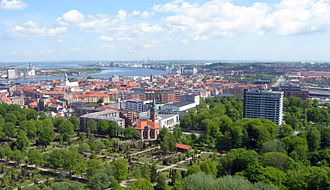 Aalborg - View of Aalborg and the Limfjord from the west