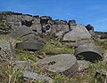 Abandoned millstones clutter the foreground below Stanage Edge - geograph.org.uk - 1317989.jpg