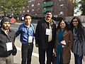 Abhishek with Nashik Mayor, Deputy Mayor and MLA in Boston.jpg