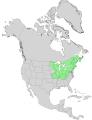 Acer saccharum USGS range map.png