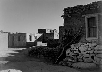 Acoma Indian Reservation - Houses at Acoma Pueblo, 1941. Photo by Ansel Adams