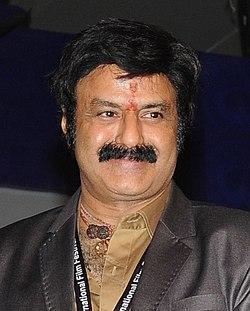 Actor Nandamuri Balkrishna presents the Golden Peacock award to Gurvinder Singh for Anhey Ghorhey Da Daan (cropped).jpg