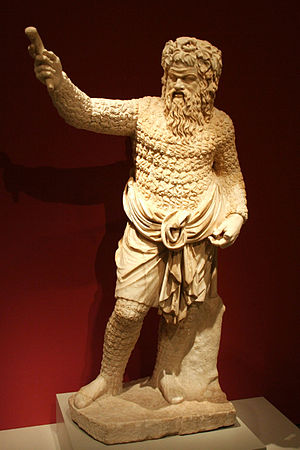 Satyr play - Actor as Papposilenus, around 100 AD, after 4th-century BC original