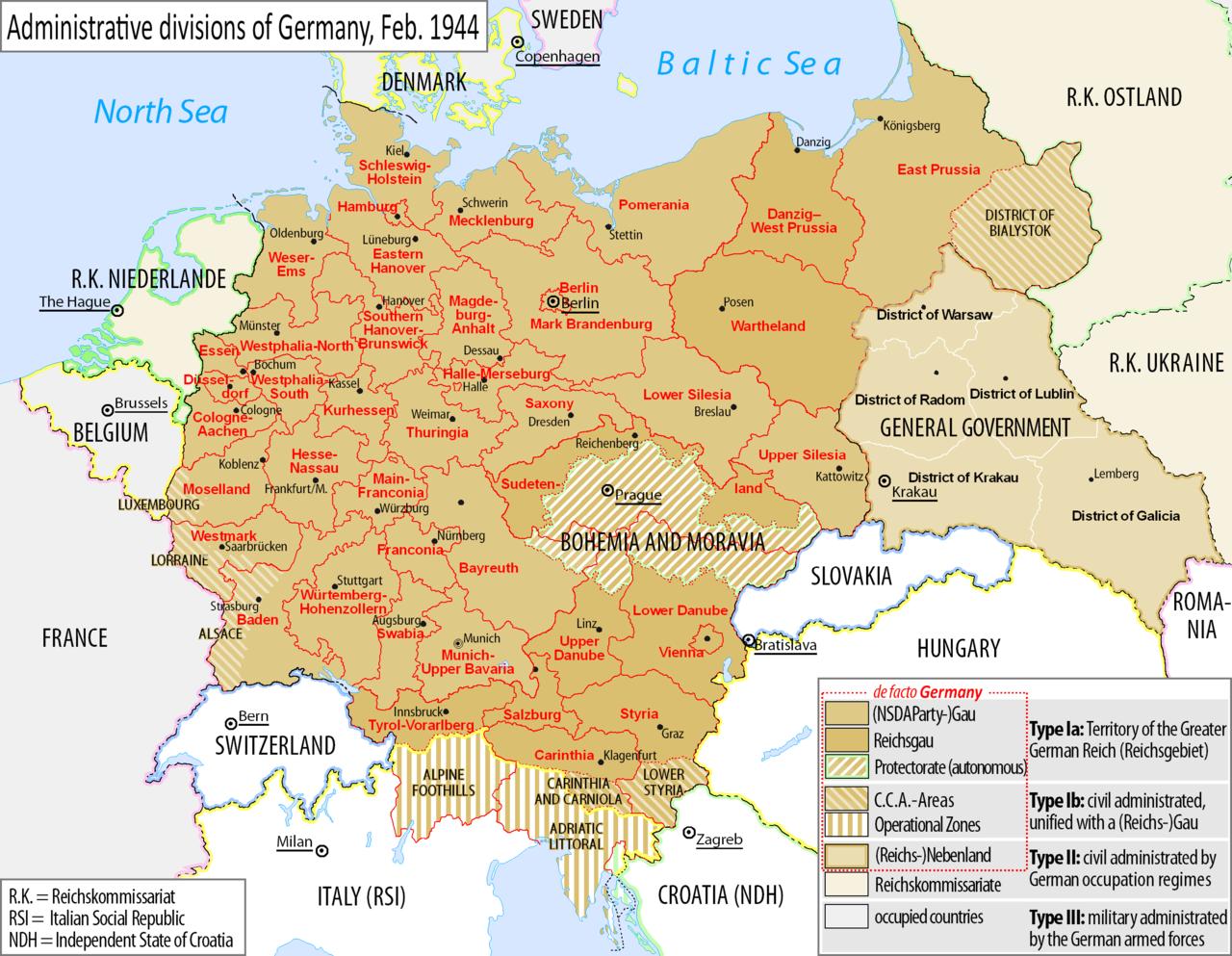 DEUTSCHLAND 1942 KARTE