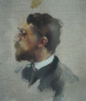 Adolf Hölzel - Self-portrait (c.1887)
