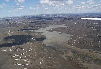 Hewitt Lake National Wildlife Refuge - Aerial view of Hewitt Lake NWR