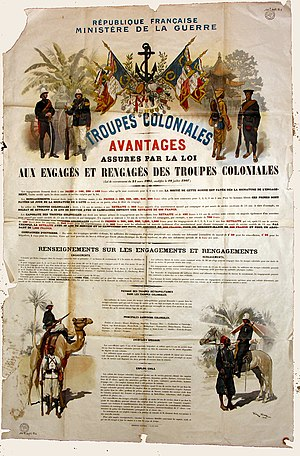 Military recruitment - French marines recruitement poster