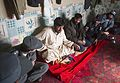 Afghan Uniform Police (AUP) members meet with the Afghan Local Police (ALP) commander for the Shah Joy district in Zabul province, Afghanistan, Feb 120207-N-CI175-152.jpg