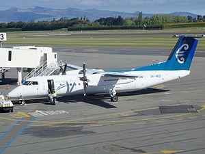 Air Nelson Bombardier DHC-8-Q300 ZK-NEZ at Christchurch International Airport.JPG