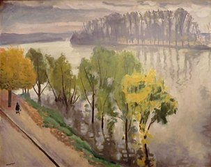 The Seine at the Frette in autumn