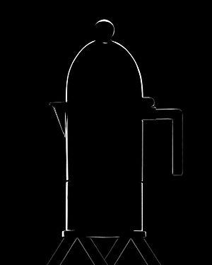 Aldo Rossi - Aldo Rossi La Cupola Espresso Maker 1988, produced by Alessi