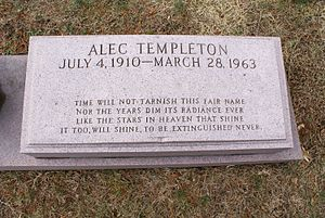 Alec Templeton - The grave of Alec Templeton, with 1910 given as year of birth