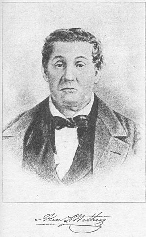 Alexander Scott Withers - Alexr S. Withers The frontispiece of the 1895 reprint of his book, depicting him at about 60 years of age (ca. 1852).