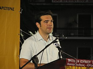 Greek politician Alexis Tsipras, chairman of S...