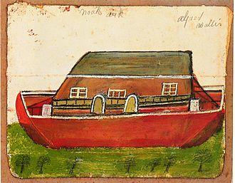 Naïve art - Alfred Wallis, 1942, before Noah's Ark
