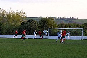 Wantage Town F.C. - Wantage Town F.C. in the green and white hoops