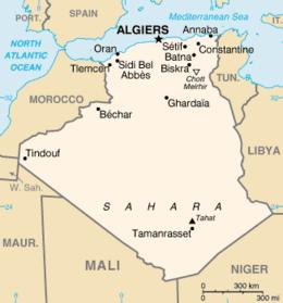 Algeria - Mappa
