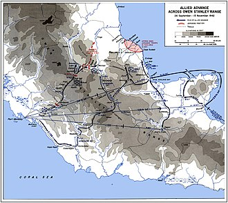 32nd Infantry Division (United States) - Allied advance across Owen Stanley Range 26 September - 15 November 1942.