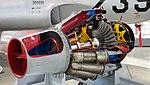Allison J33-A-15 turbojet engine(cutaway model) right rear view at Hamamatsu Air Base Publication Center November 24, 2014.jpg