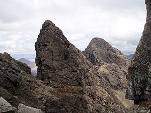 English: Am Basteir, a mountain in the norther...