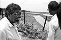 Amalendu Roy Discusses About Water Barrier - Science City Site - Dhapa - Calcutta 1993-June 626.JPG