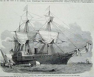 RMS <i>Amazon</i> (1851) wooden three-masted barque, paddle steamer and Royal Mail Ship
