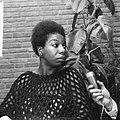 Amerikaanse zangeres Nina Simone die met kerst op televisie zal verschijnen de , Bestanddeelnr 918-5605.jpg