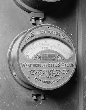 Ammeter - Ammeter from the old Penn Station Terminal Service Plant in New York City