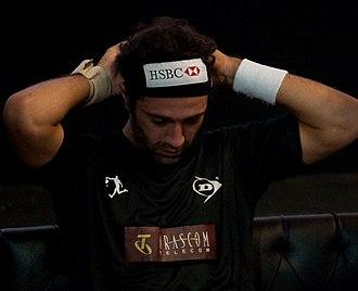 Amr Shabana - Amr Shabana during the 2009 Kuwait Open semi-final match against James Willstrop.