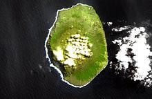 Satelita bildo de la Amsterdam-Insulo