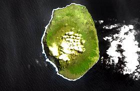Остров Амстердам из космоса