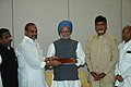 An All Party Delegation from Andhra Pradesh Assembly, led by the Chief Minister of Andhra Pradesh, Dr. Y.S. Rajasekhara Reddy, calling on the Prime Minister, Dr. Manmohan Singh in New Delhi on March 31, 2007.jpg