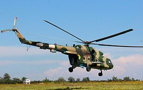 An Mi-8 helicopter at the training Military Academy (Odessa) - cropped.jpg
