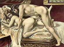 Sesso anale, dipinto erotico di Paul Avril
