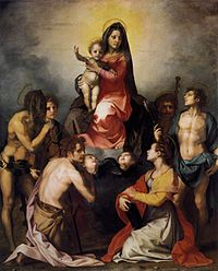 Andrea del Sarto - Virgin and Child in Glory with Six Saints - WGA0406.jpg
