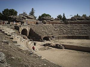 Amphitheatre of Mérida - Stands of the Roman amphitheater of Mérida.