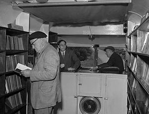 Bookmobile - A mobile library in Anglesey, Wales (1958)