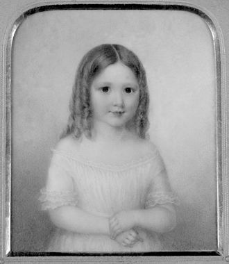 John Winthrop Chanler - Margaret Astor Ward as a child, painted by Ann Hall