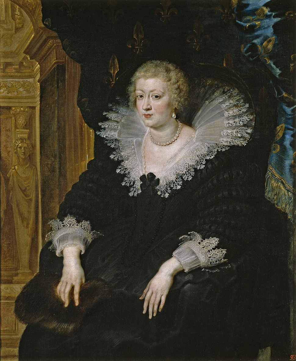 Anne of Austria by Rubens (c.1622, Prado)