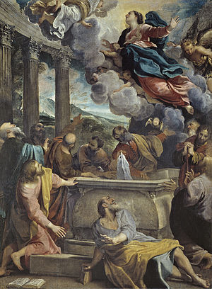 1590 in art - Assumption of the Virgin (1590) by Annibale Carracci