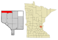 Anoka Cnty Minnesota Incorporated and Unincorporated areas StFrancis Highlighted.png
