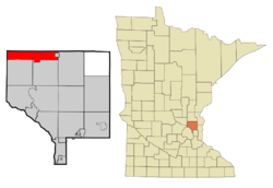 Location of the city of St. Franciswithin Anoka County, Minnesota