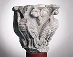 Anonyme toulousain - Chapiteau de colonne simple , Oiseaux dans des lianes - Musée des Augustins - ME 229 (2).jpg