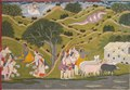 Anonymous - Krishna Returns with the Cowherds to Braj, from a Bhagavata Purana - 1971.301 - Cleveland Museum of Art.tiff