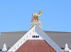 National Register of Historic Places listings in Antelope County, Nebraska - Image: Antelope County Courthouse (Nebraska) W roof antelope