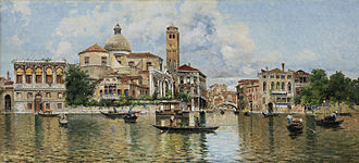 Veduta - Venetian Veduta by Antonio Reyna Manescau